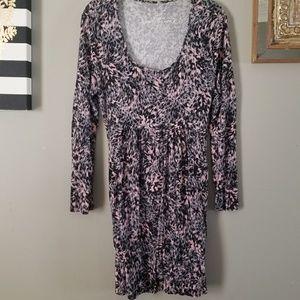 🧡Sale Item! SOMA Dress- Pink-Black Print